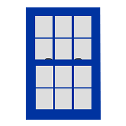 Double Hung Window Icon